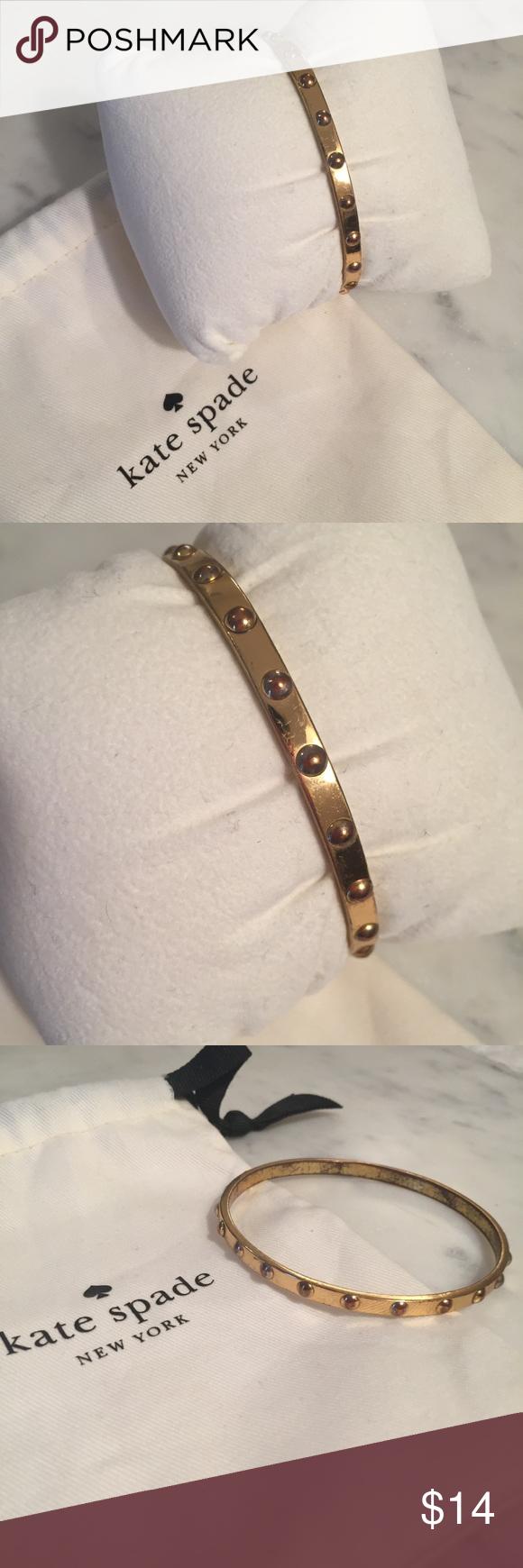 Kate spade gold grommet bangle bracelet trendy low price womenus
