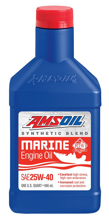 Brand New Nmma Certified Amsoil 25w 40 Synthetic Blend Marine