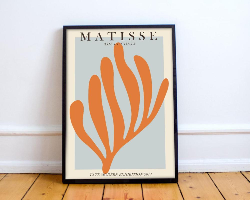Henri Matisse die Cut Outs Kunst Ausstellung Poster – Matisse Kunstdruck – moderne minimalistische – Matisse Wandkunst – Matisse Poster 50x70cm 18×24