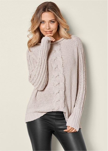 Front View Oversized Sweater