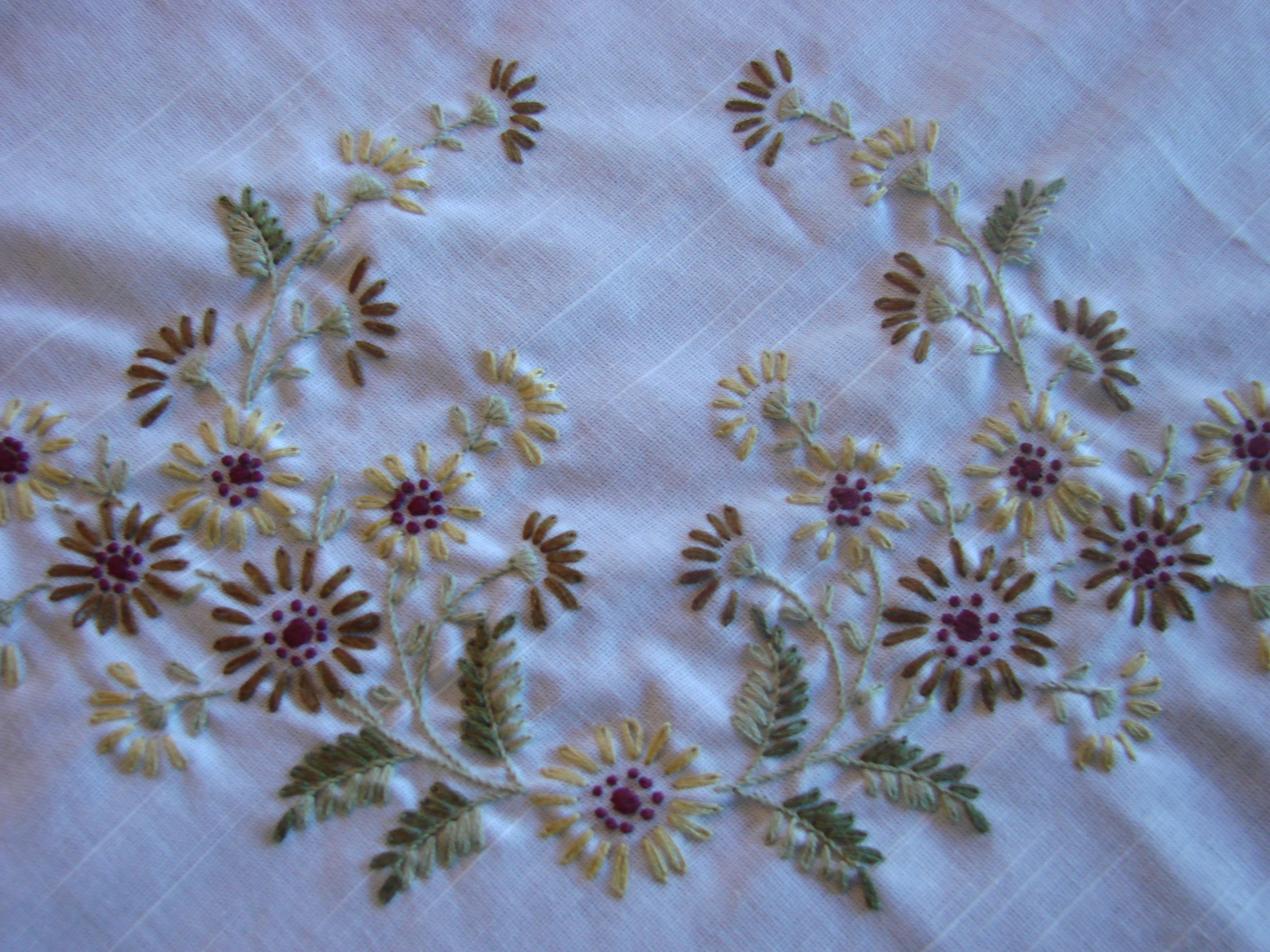 Hand embroidery tablecloth my embroideries pinterest