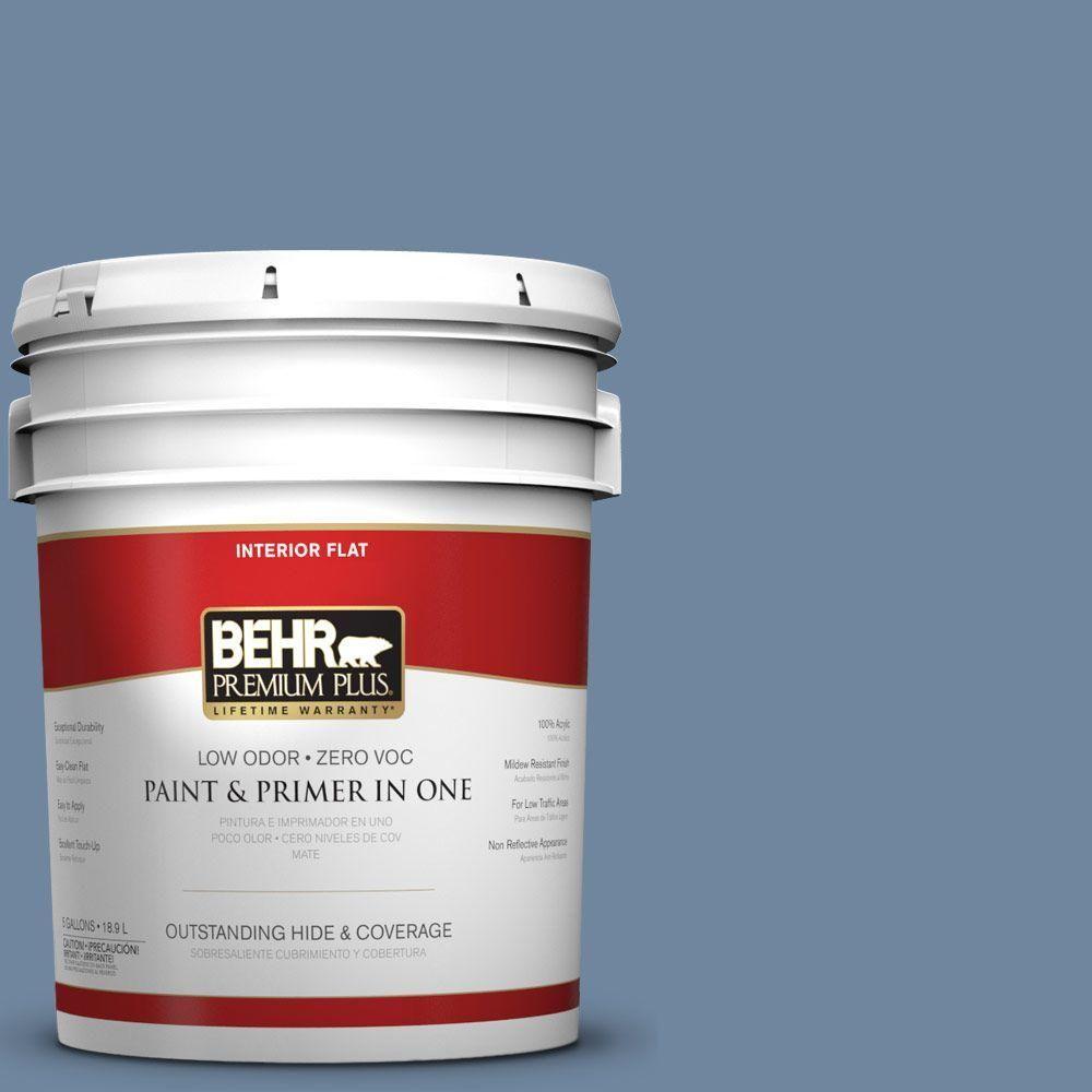 BEHR Premium Plus 5-gal. #S520-5 Thundercloud Flat Interior Paint