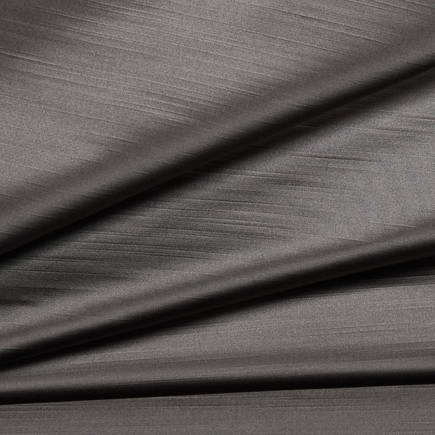 Black Pearl Gray and Neutral Solid Satin Upholstery Fabric