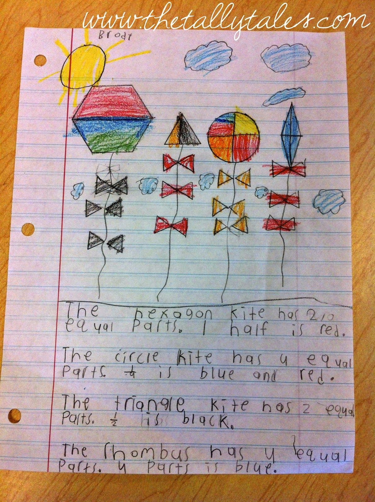 Fraction Kites For First Graders