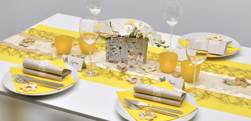 tischdeko taupe gelb mit birke servietten pinterest tischdeko shop zur hochzeit und. Black Bedroom Furniture Sets. Home Design Ideas