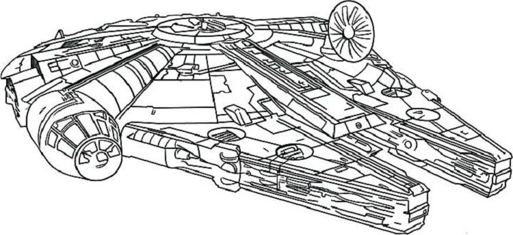 star wars coloring pages millennium falcon   Coloring Pages For Kids ...
