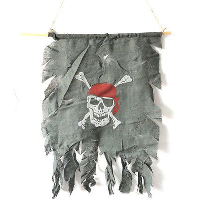 New Gothic Pirate Skull Flags Halloween Bar Club Party Decoration