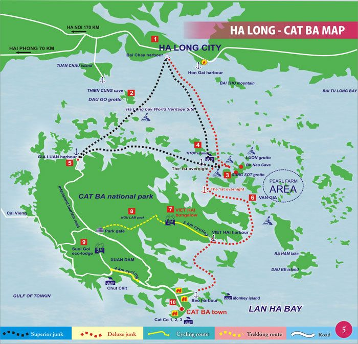 Bahia De Halong Mapa.Cat Ba Map Cat Ba Island Vietnam Maps Travel Guide Cat Ba Island Vietnam Destinations Vietnam Map