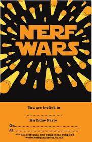 Image Result For Nerf Party Invitations Template Free Future Bday - Party invitation template: nerf war party invitation template