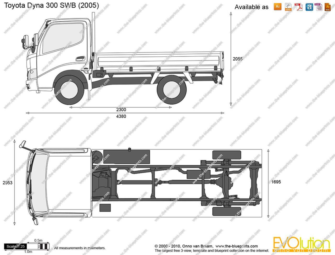 toyota dyna truck dimensions 7 [ 1280 x 977 Pixel ]