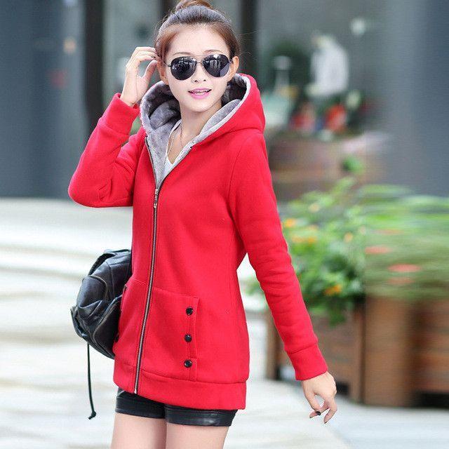 2017 Spring Autumn Women Hoodies cotton mixed Zip-up zipper Solid Full-Sleeve Hooded Casual Hoodies Sweatshirts Plus Size M-3XL