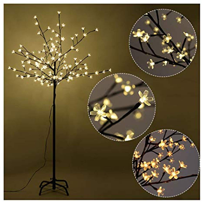 Christmas Xmas Cherry Blossom Led Tree Light Floor Lamp Holiday Decor Warm White 5ft 120led Yo Led Christmas Tree Lights Cherry Blossom Light Tree Led Tree
