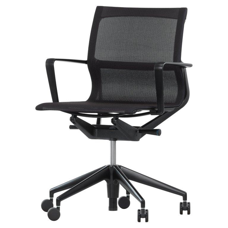 Vitra Meda Bureaustoel.Vitra Physix Chair In Black Fleece Net By Alberto Meda Products