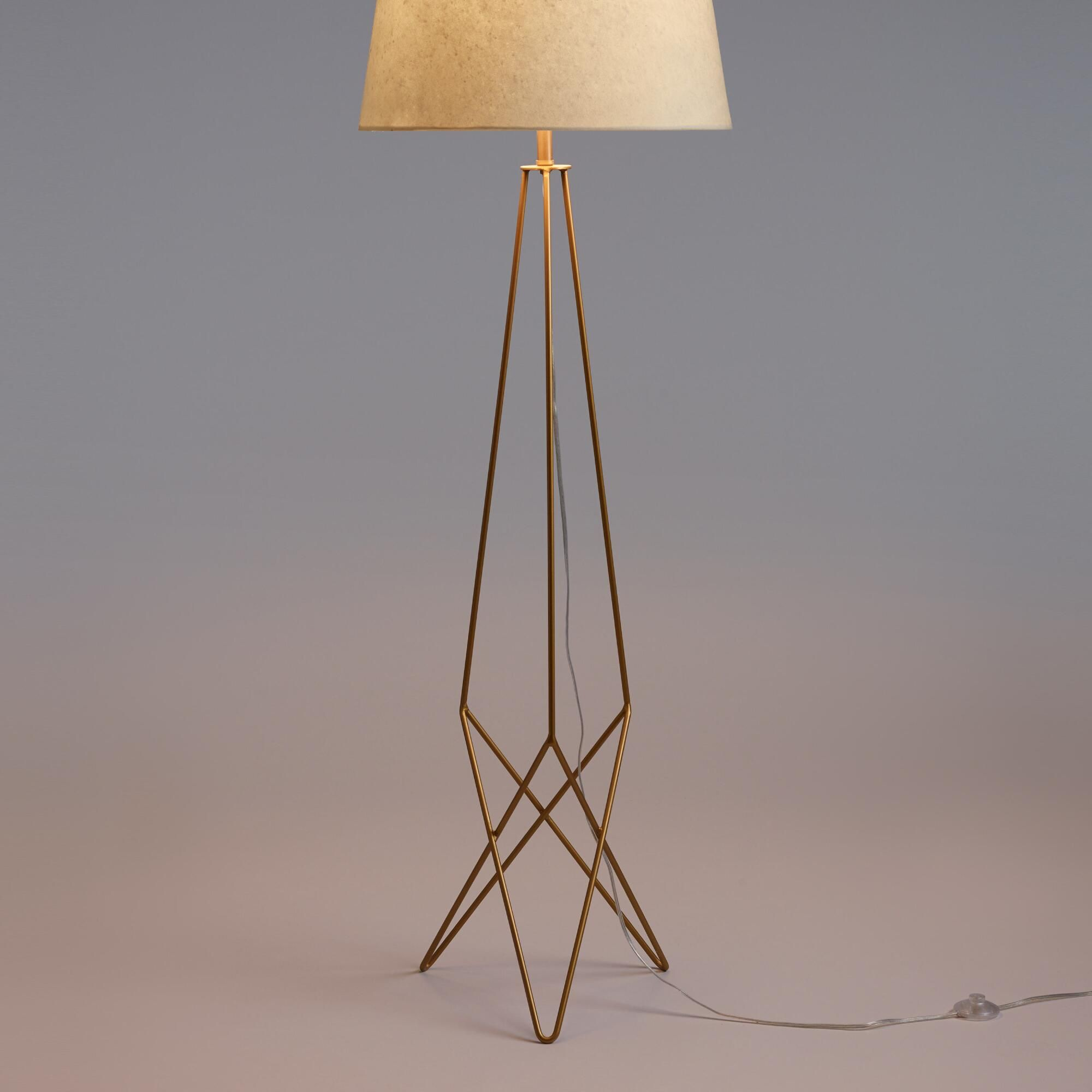 Make a mid century modern statement with our exclusive floor lamp in make a mid century modern statement with our exclusive floor lamp in resplendent antique gold aloadofball Choice Image