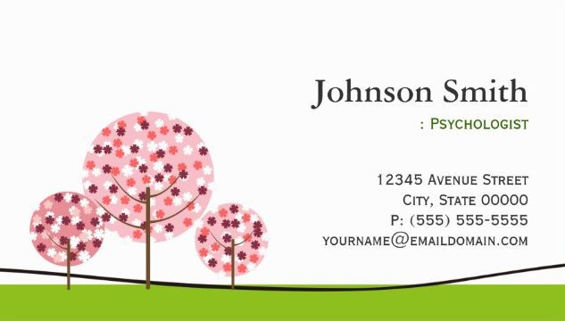 Cute Pink Wishing Trees and Grass Psychologist Business Cards http://www.zazzle.com/psychologist_cute_pink_wishing_tree_logo_business_card-240754231152274814?rf=238835258815790439&tc=GBCCounseling1Pin