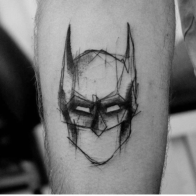 Batman Tattoo Blackwork
