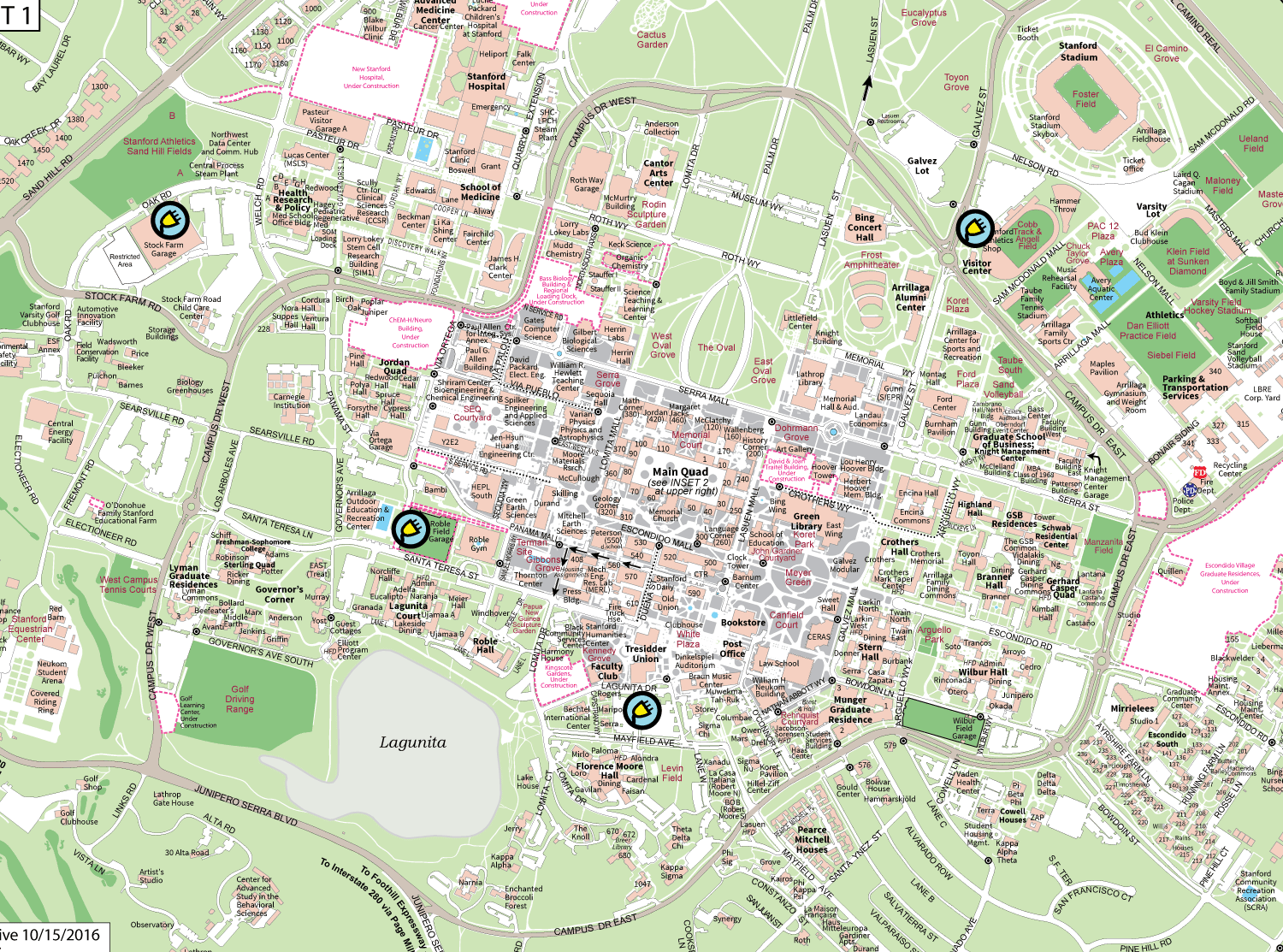 Stanford Univ Campus Map Stanford university map