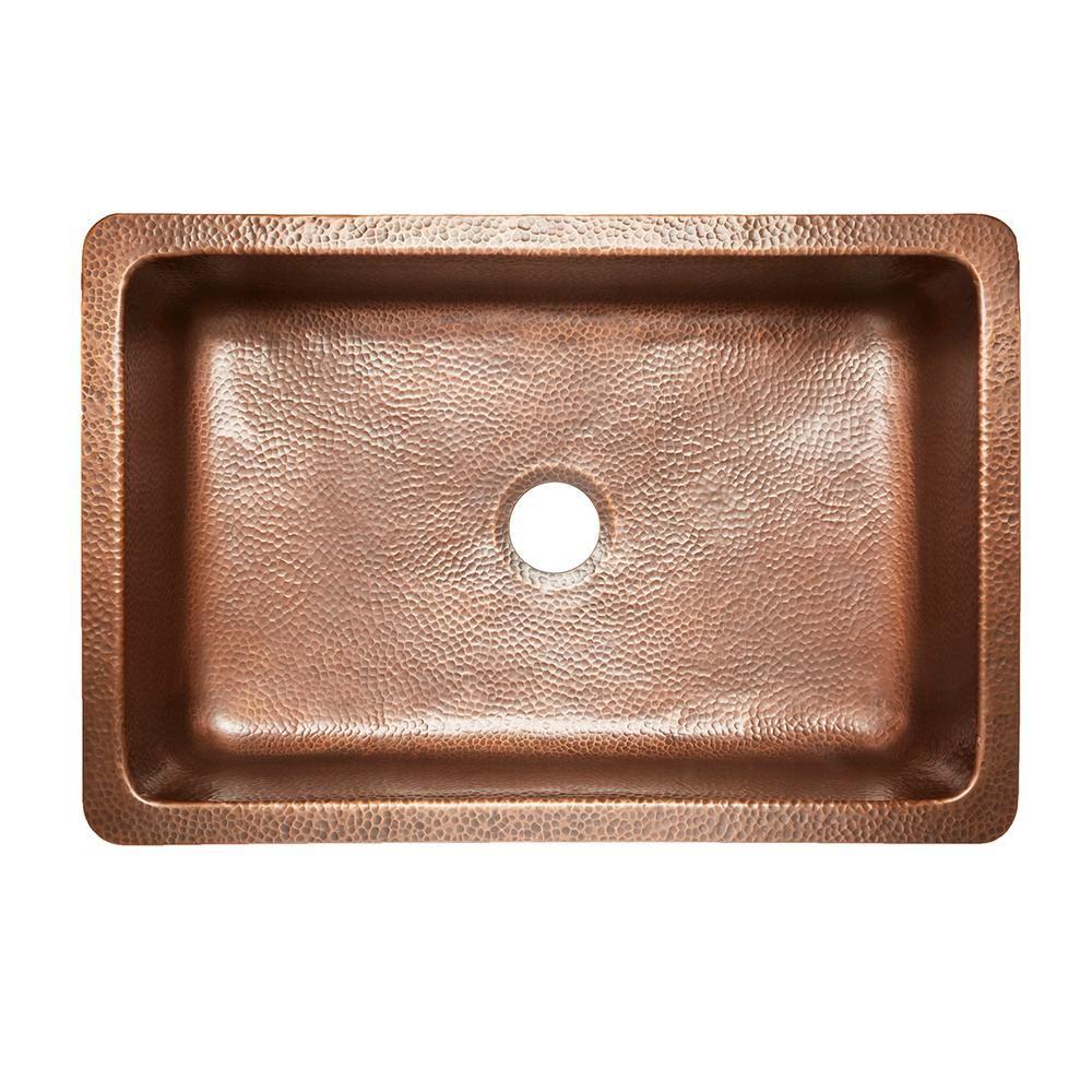 SINKOLOGY Ganku AllinOne Farmhouse ApronFront Copper 33