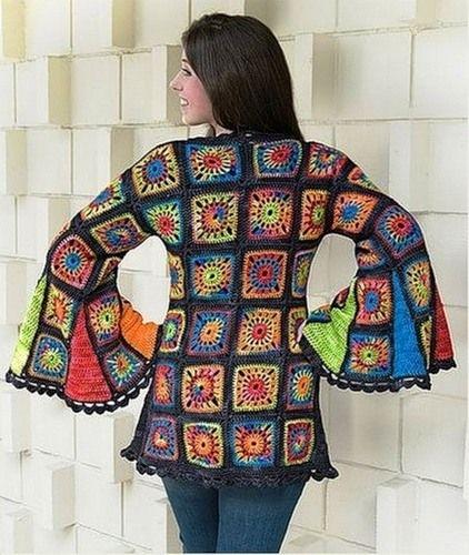 Granny Patron Patrones Proyectos Crochet Chaqueta Cuadraditos xPna44