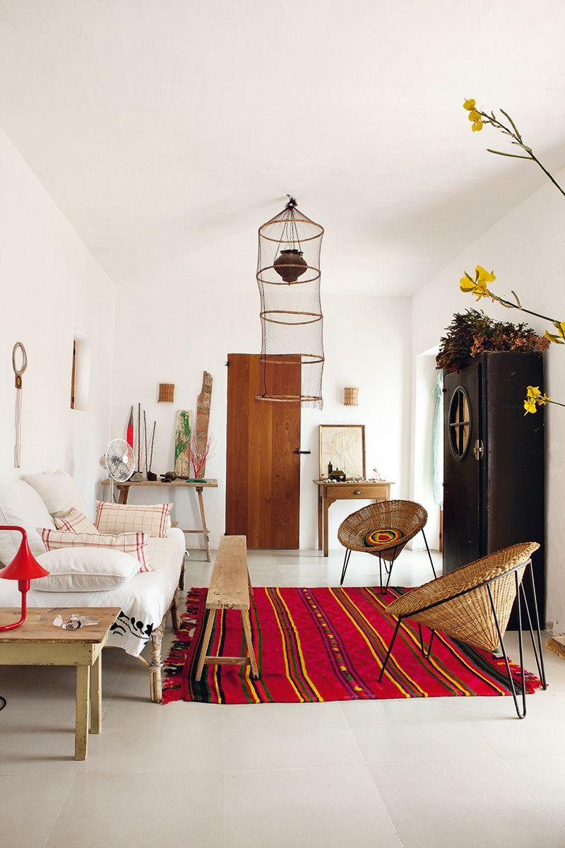 Modern bohemian home decor  Rey pescador  AD España  ricardo labougle  boho house
