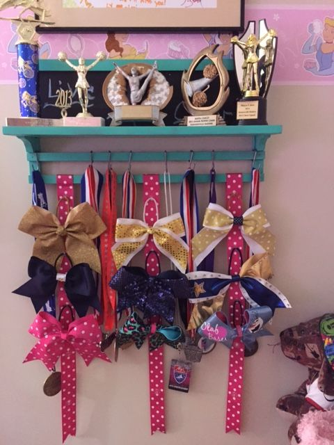 This Is My Semi Homemade Cheer Bow Holder I Started With