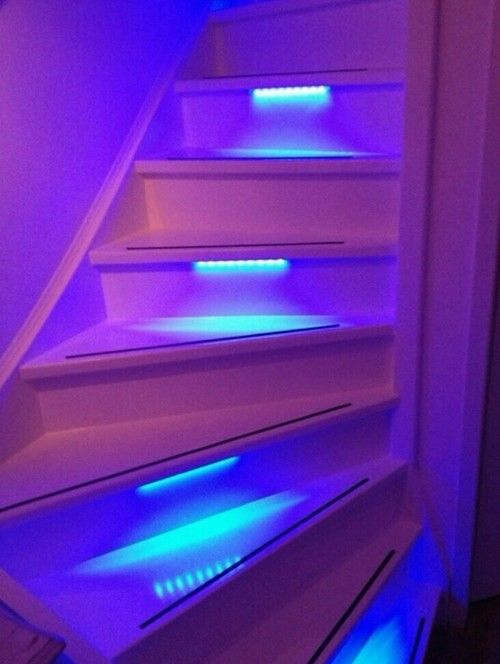 Install Colored Tape Lights On Stairs For Stylish Safety Lighting Aesthetic Room Decor Dream Rooms Cute Room Decor