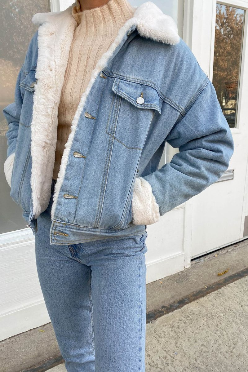 Finally A Denim Jacket That You Can Count On To Keep You Warm All Season Long It S Every Girls Dr Denim Jacket With Fur Long Jacket Outfit Love Street Apparel [ 1200 x 800 Pixel ]