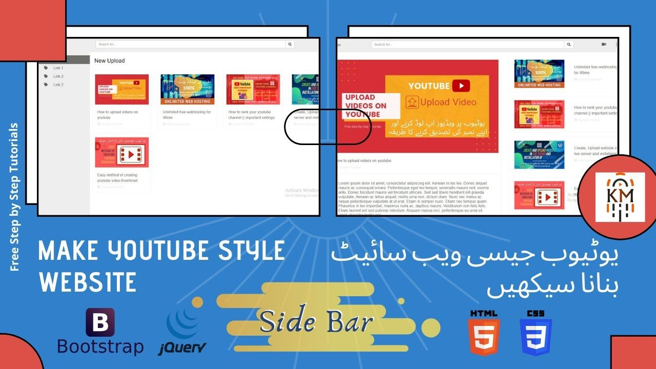Create A Website Like Youtube Side Menu In 2020 Youtube Website Tutorial Youtube