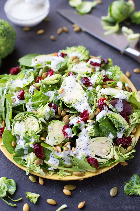 recipe: kale salad with cranberries and pumpkin seeds [29]