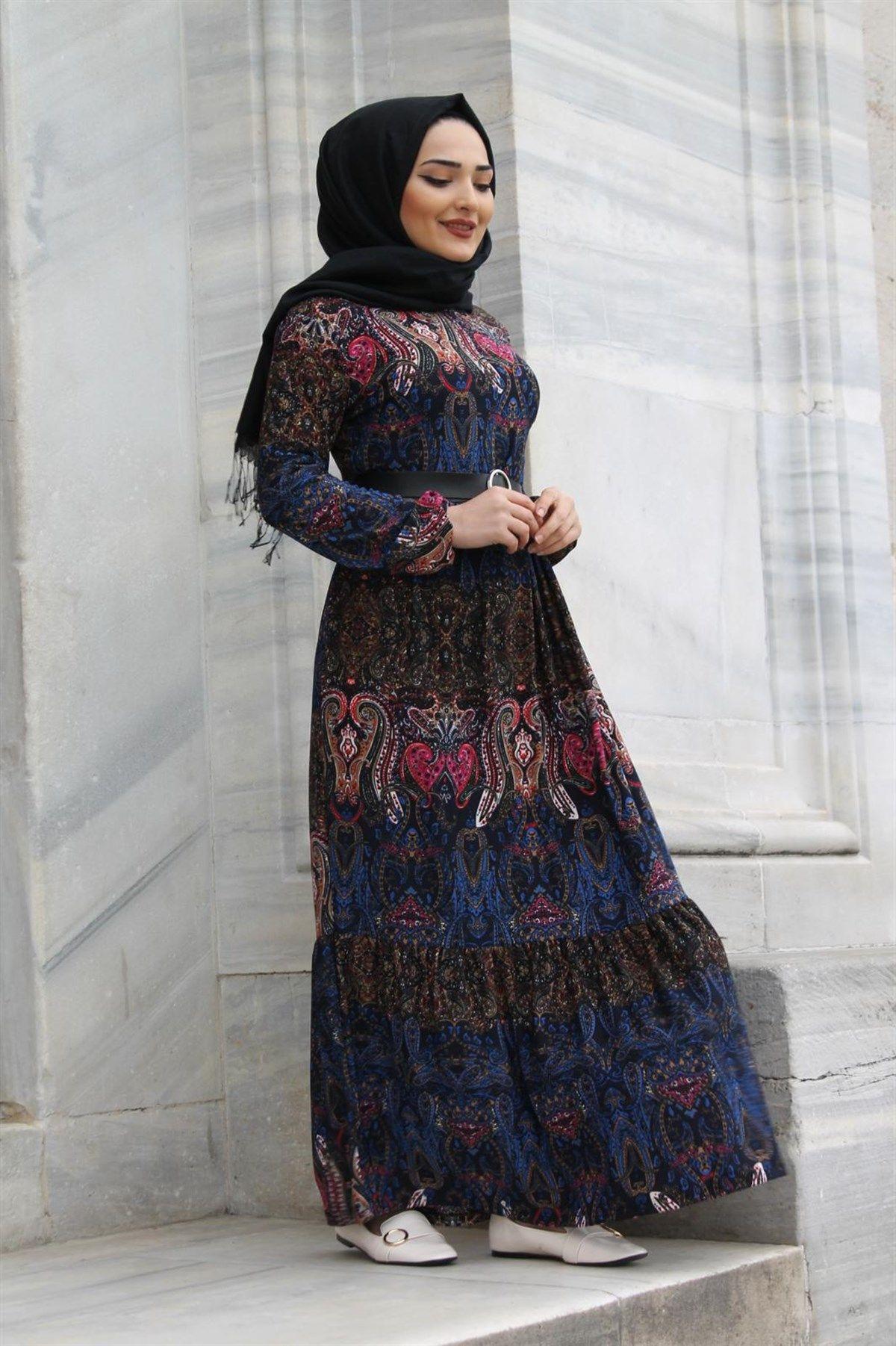En Sik Gunluk Tesettur Kiyafet Kombinleri Moda Tesettur Giyim Moda Stilleri Elbise Modelleri Kiyafet
