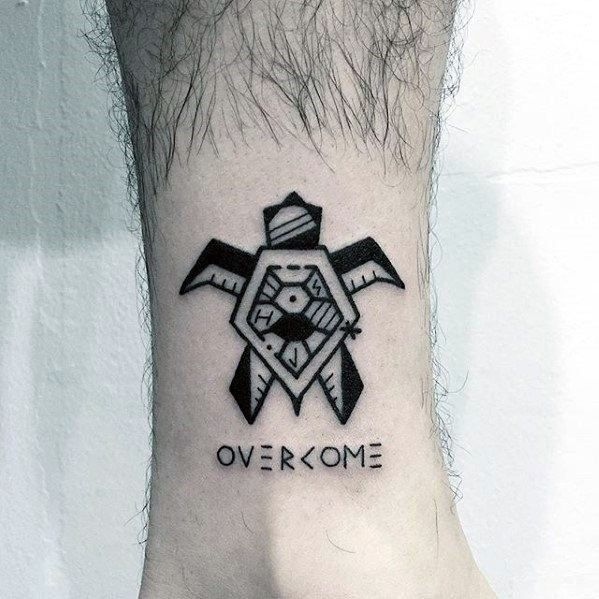 20 Overcome Tattoo Designs For Men Word Ink Ideas Geometric Tattoo Tattoos For Guys Tattoo Designs Men