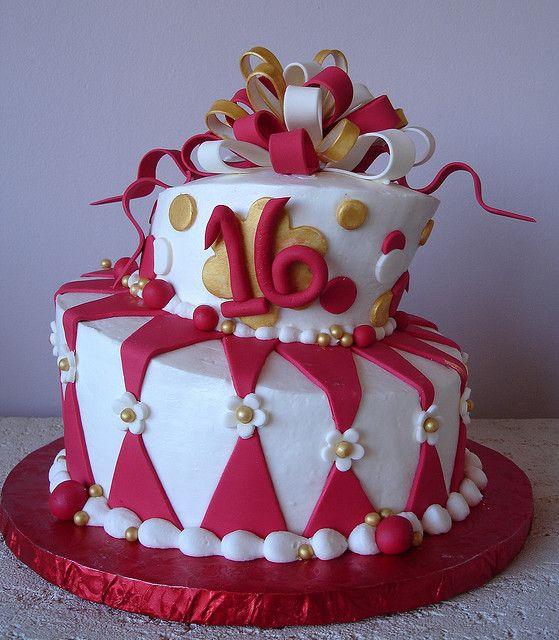Red White Gold Topsy Turvy Cake My Wishlist Pinterest