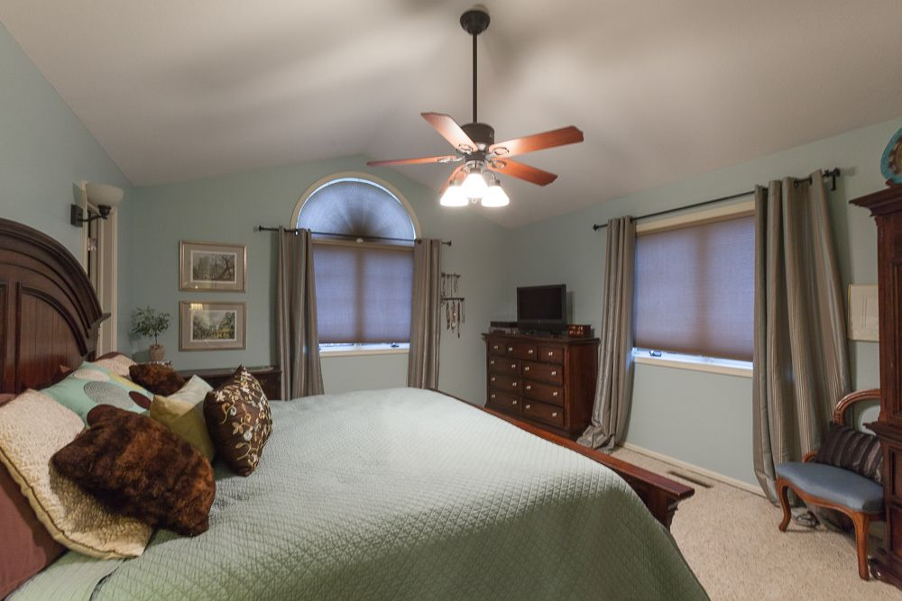 Vaulted ceilings give this Master Bedroom such an open feel! 100 Park Place, Mankato, MN