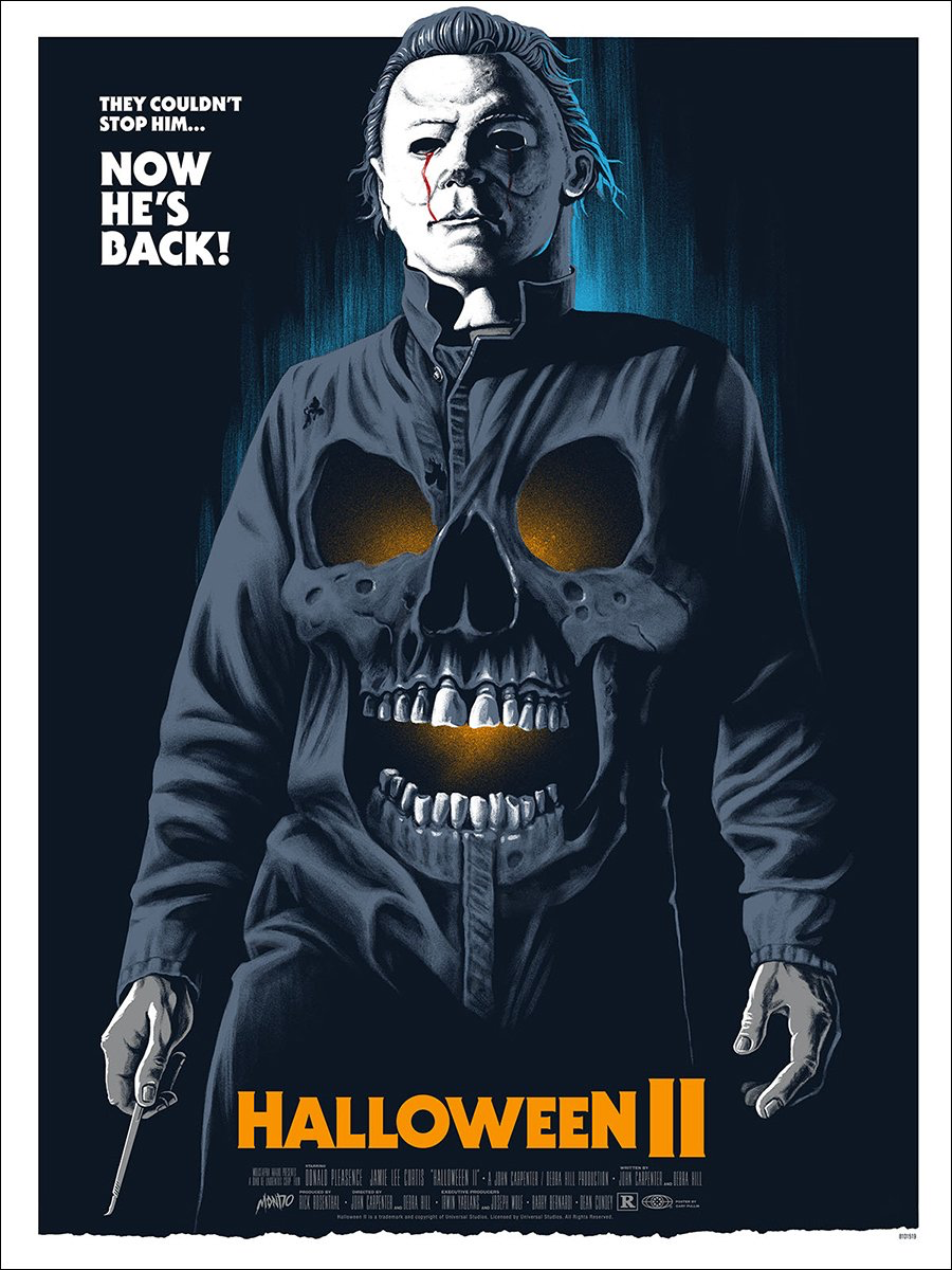 halloween ii movie poster john carpenter 1980s