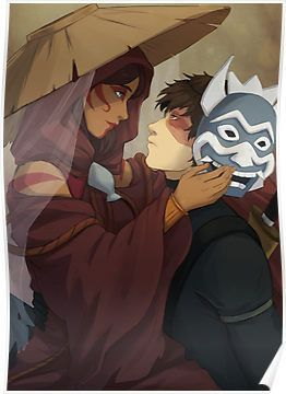 Painted Blue Poster By Nymre Avatar Zuko Avatar The Last Airbender Art Avatar The Last Airbender