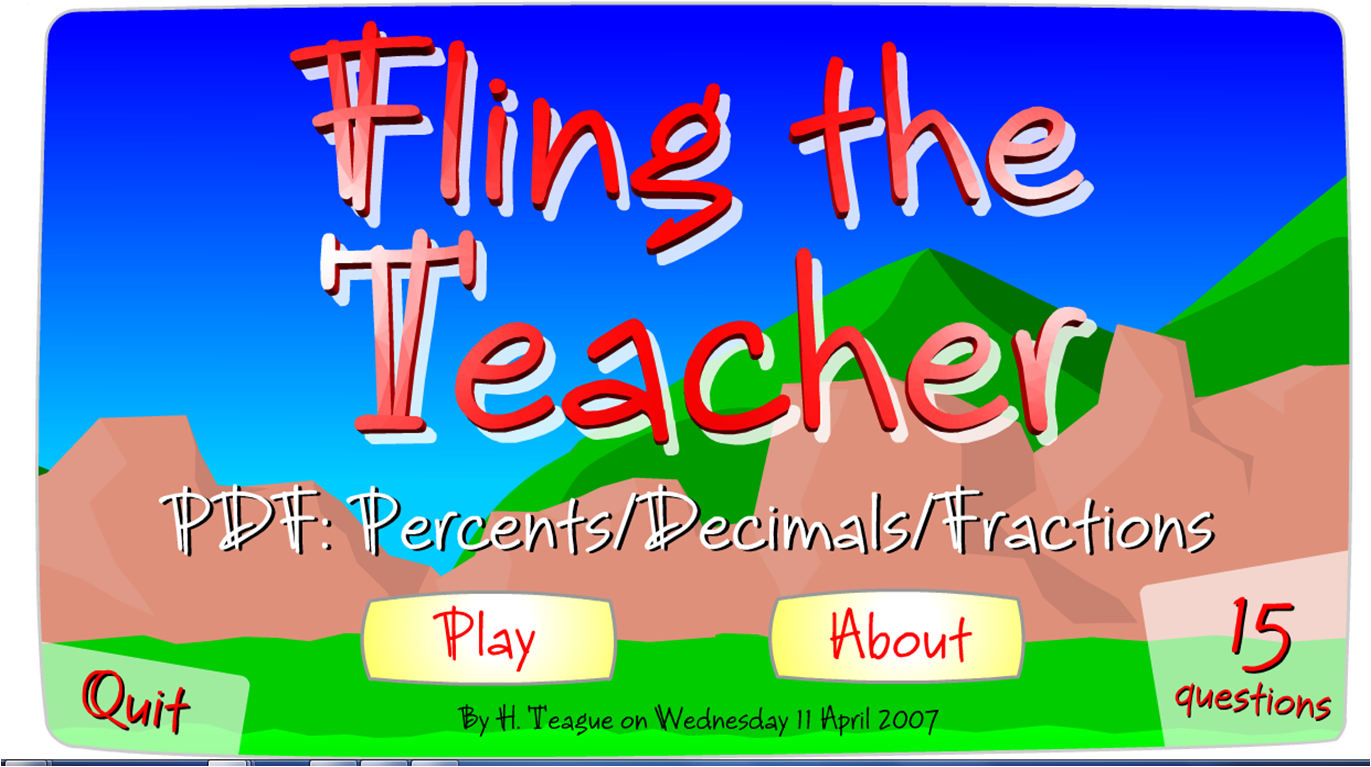 Online Game to review for Percents Decimals and Fractions