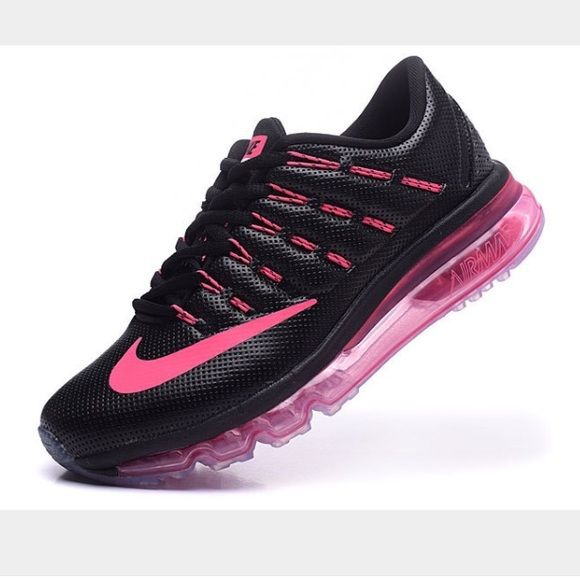 ce8905ce8cbe Nike Air Max Black Pink 2016 Leather Running Shoes Womens size 7 NWOT no  box only tried on. Authentic Nike Shoes Athletic Shoes