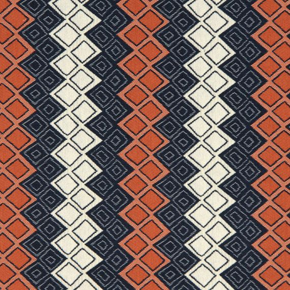 navy blue orange upholstery fabric heavyweight by popdecorfabrics classic navy orange. Black Bedroom Furniture Sets. Home Design Ideas