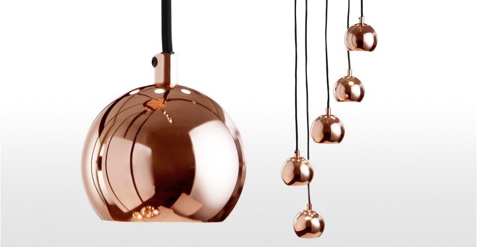 Moderne Lampen 5 : Austin 5 flammige cluster pendelleuchte kupfer ▻ moderne design