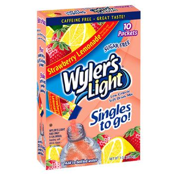 Wyler S Light Strawberry Lemonade Singles To Go 10 Ct Boxes Strawberry Lemonade Mixed Drinks Lemonade