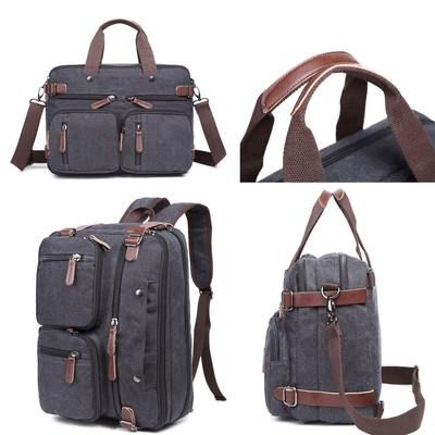 Hybrid Backpack Messenger Bag Convertible Laptop