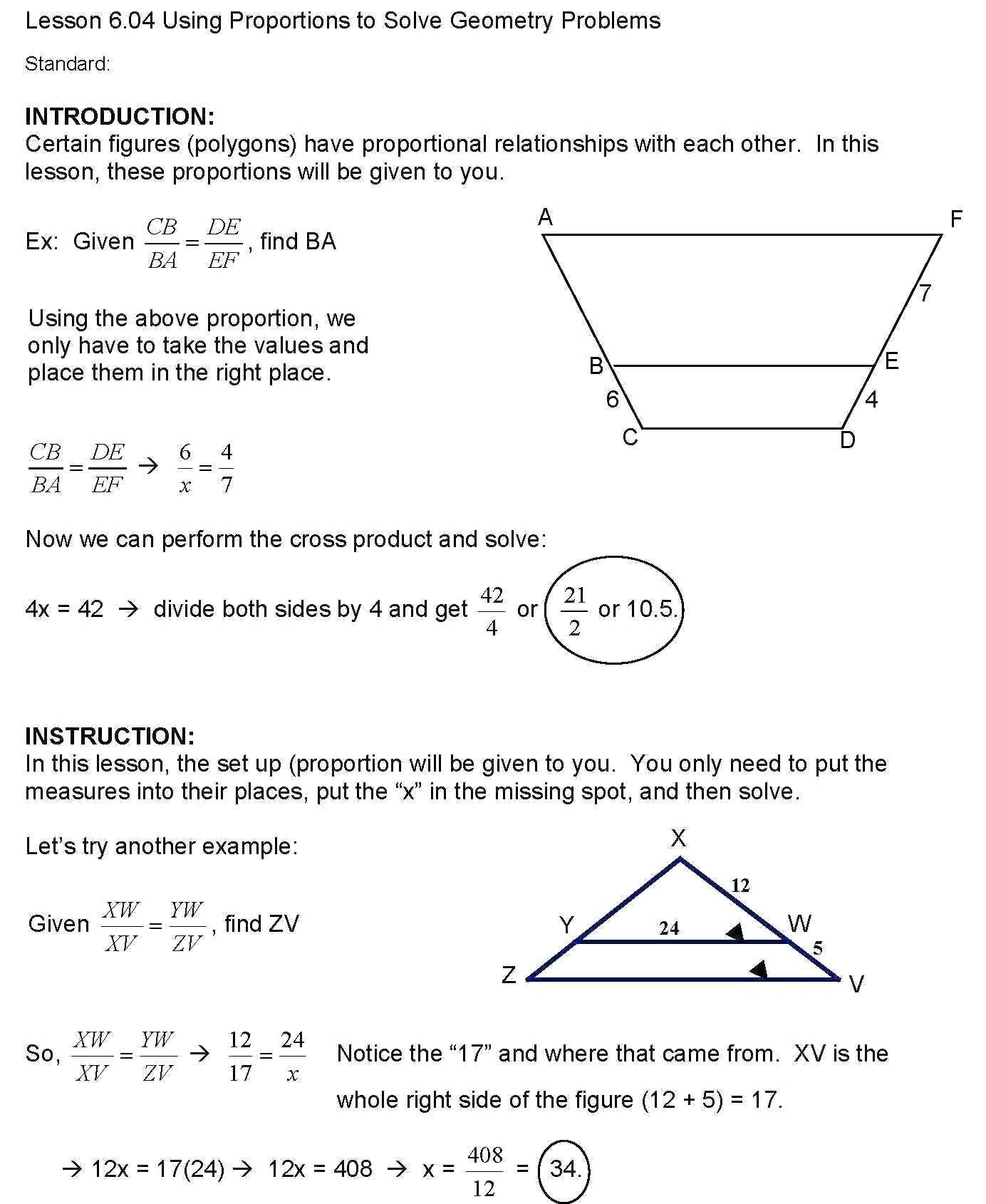 4 Free Math Worksheets Sixth Grade 6 Geometry In