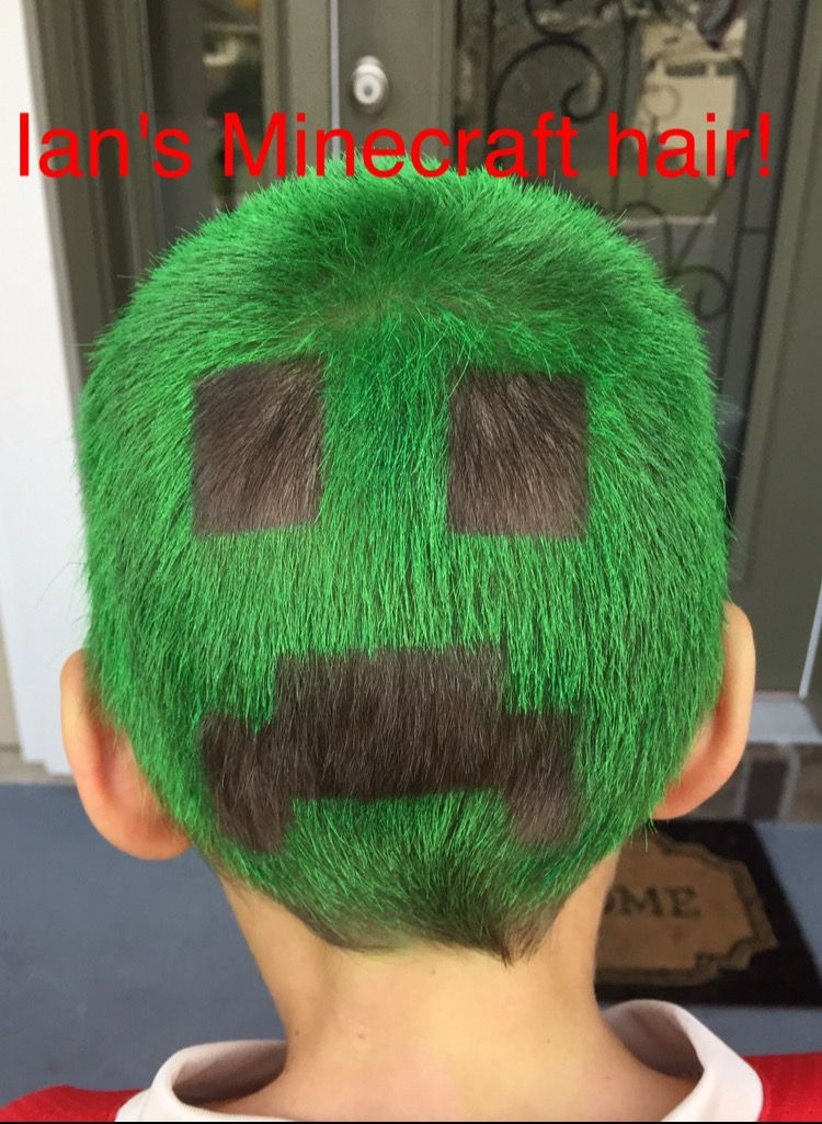 Crazy hair day Minecraft for boy Wacky hair Crazy
