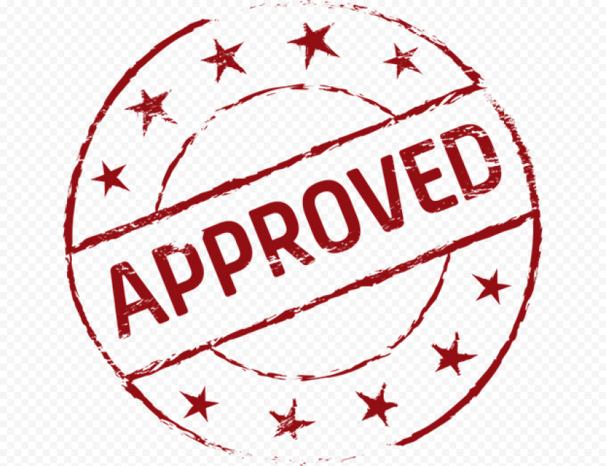 Red Circular Approved Stamp Icon Approved Stamp Stamp Icon