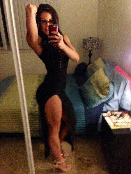 Milf in black dress