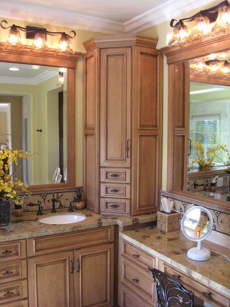 corner-bathroom-cabinet-Bathroom-Mediterranean-with-custom ...