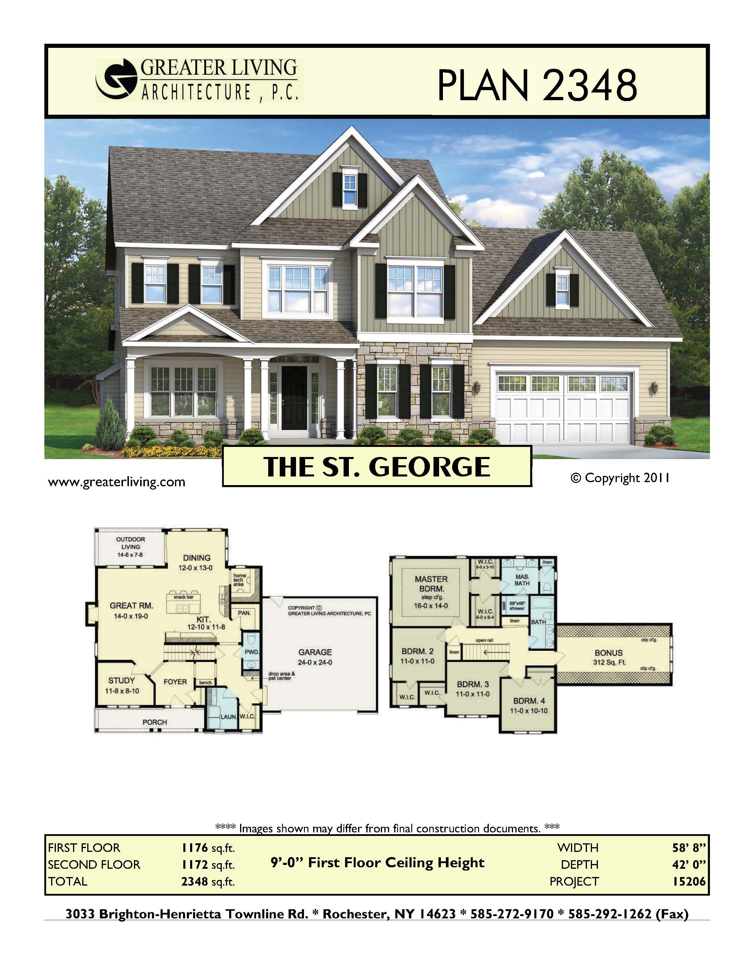 Small Two Story House Design: Plan 2348: THE ST. GEORGE
