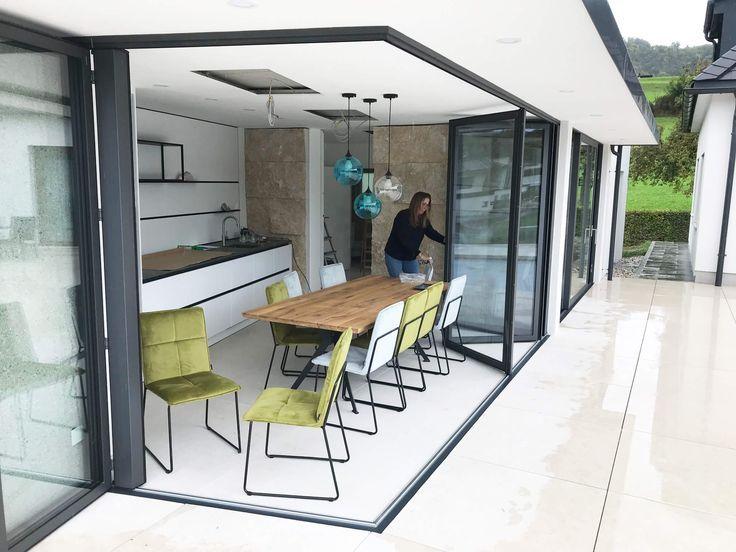 Faltsystem Alu wärmegedämmt für Poolhaus Poolhaus, Haus
