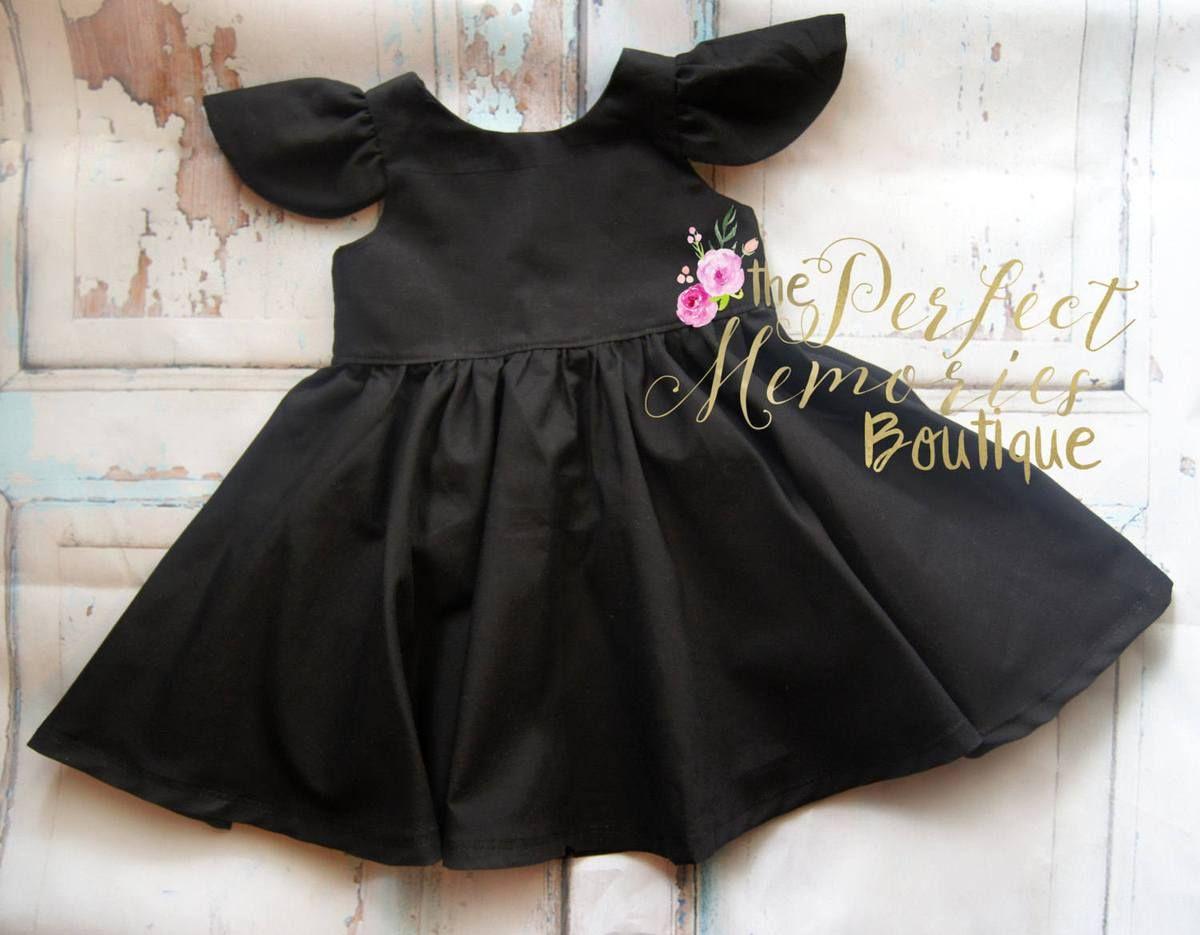 Pmb Classic Collection Available Size Preemie 8 Premium Designer 100 Cotton Fabrics In Solid Black Simp Girls Black Dress Toddler Black Dress Baby Dress [ 935 x 1200 Pixel ]