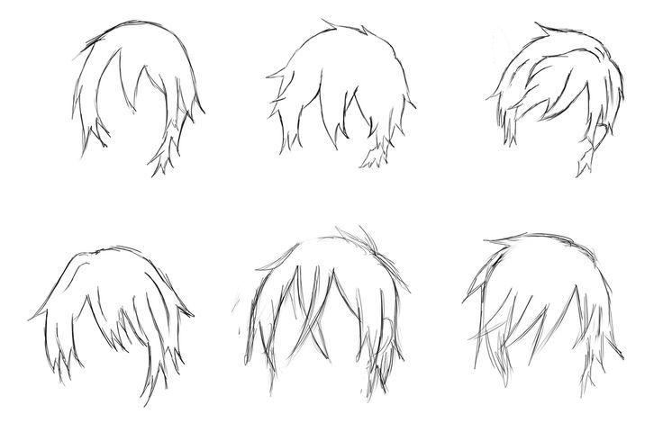 Anime Hairstyles For Guys Side View Anime Hair Anime Boy Hair